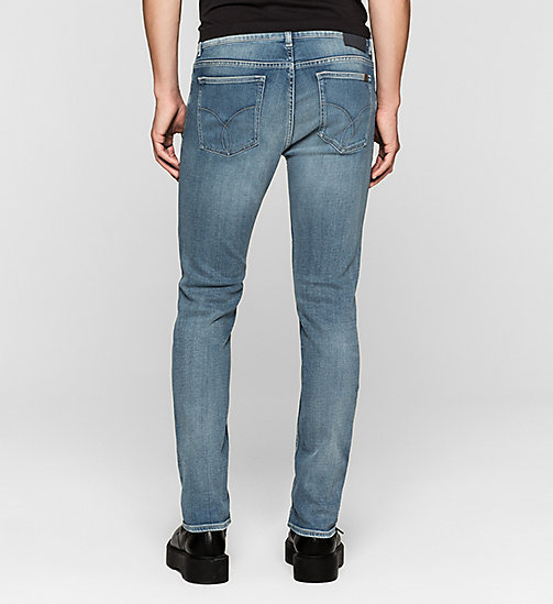 CALVIN KLEIN JEANS Slim Straight Jeans - TRUE LIGHT BLUE - CK JEANS CLOTHES - detail image 1