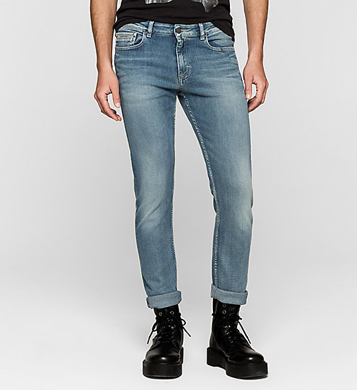 CALVIN KLEIN JEANS Slim Straight Jeans - TRUE LIGHT BLUE - CK JEANS CLOTHES - main image