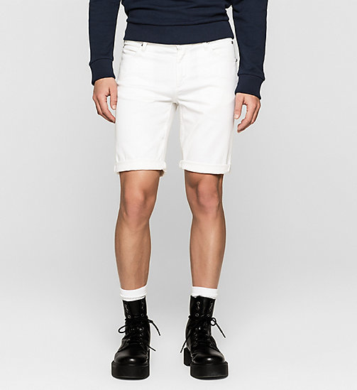 Short in denim taglio sculped - INFINITE WHITE COMFORT - CK JEANS SHORTS - immagine principale