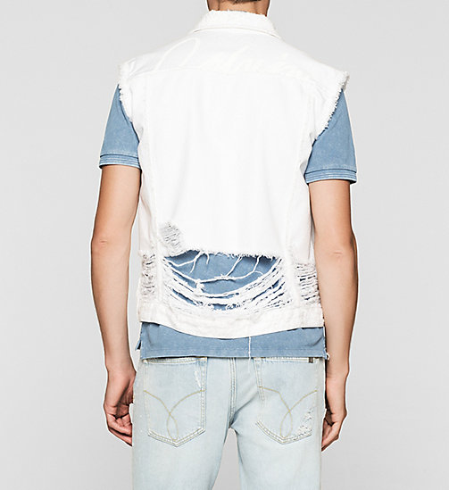 Denim Vest - SHREDDED WHITE - CK JEANS OUTERWEAR - detail image 1