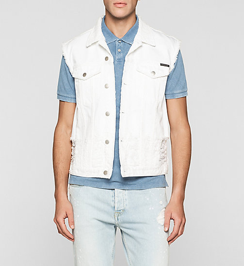 Denim Vest - SHREDDED WHITE - CK JEANS OUTERWEAR - main image
