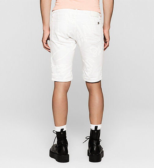Slim Graffiti Denim Shorts - WHITE GRAFFITI - CK JEANS  - detail image 1