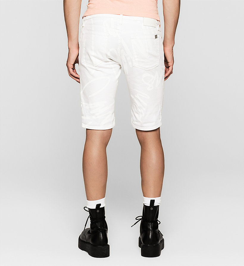 CKJEANS Slim Graffiti Denim Shorts - WHITE GRAFFITI - CK JEANS SHORTS - detail image 1