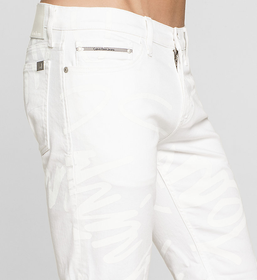 CKJEANS Slim Graffiti Denim Shorts - WHITE GRAFFITI - CK JEANS SHORTS - detail image 2