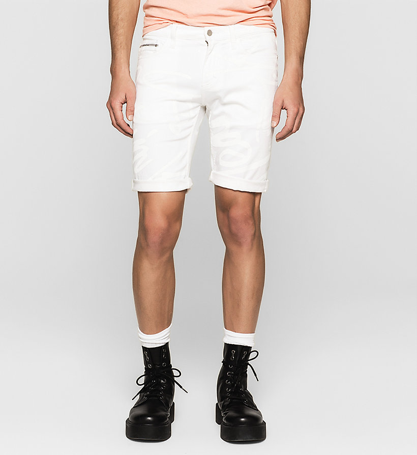 CKJEANS Slim Graffiti Denim Shorts - WHITE GRAFFITI - CK JEANS SHORTS - main image