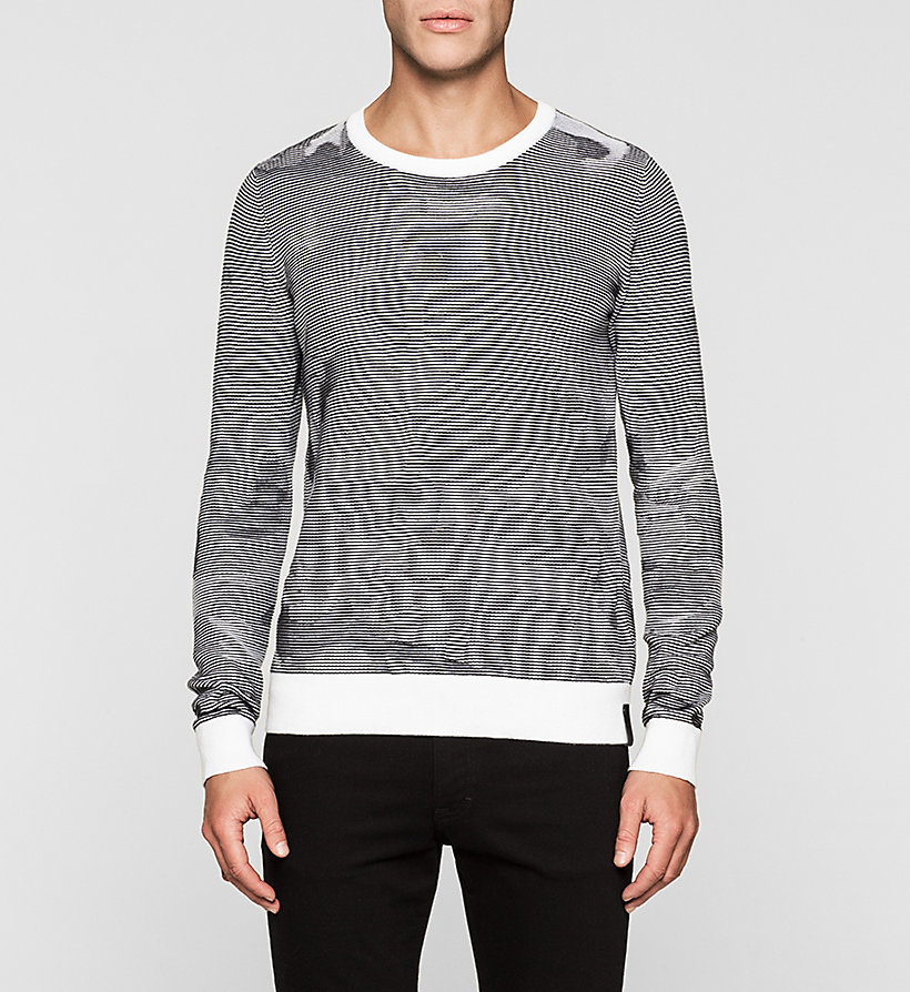 CKJEANS Camo Textured Sweater - BRIGHT WHITE - CK JEANS JUMPERS - main image