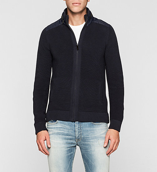Hooded Zip Cardigan - NIGHT SKY - CK JEANS JUMPERS - main image