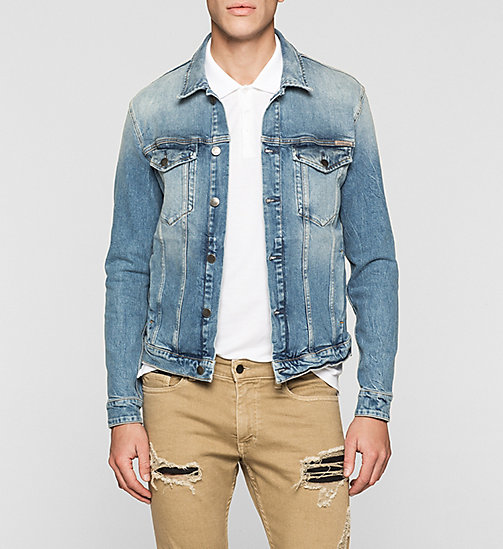 Denim Trucker Jacket - KATSU BLUE - CK JEANS OUTERWEAR - main image