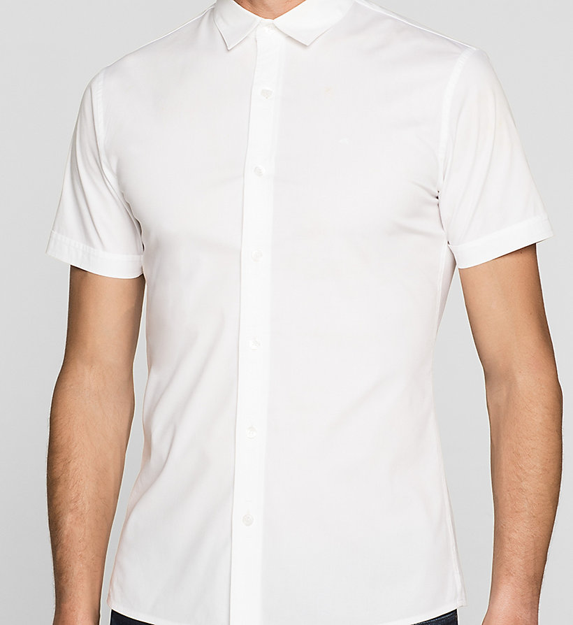 CKJEANS Fitted Shirt - BRIGHT WHITE - CK JEANS SHIRTS - detail image 2