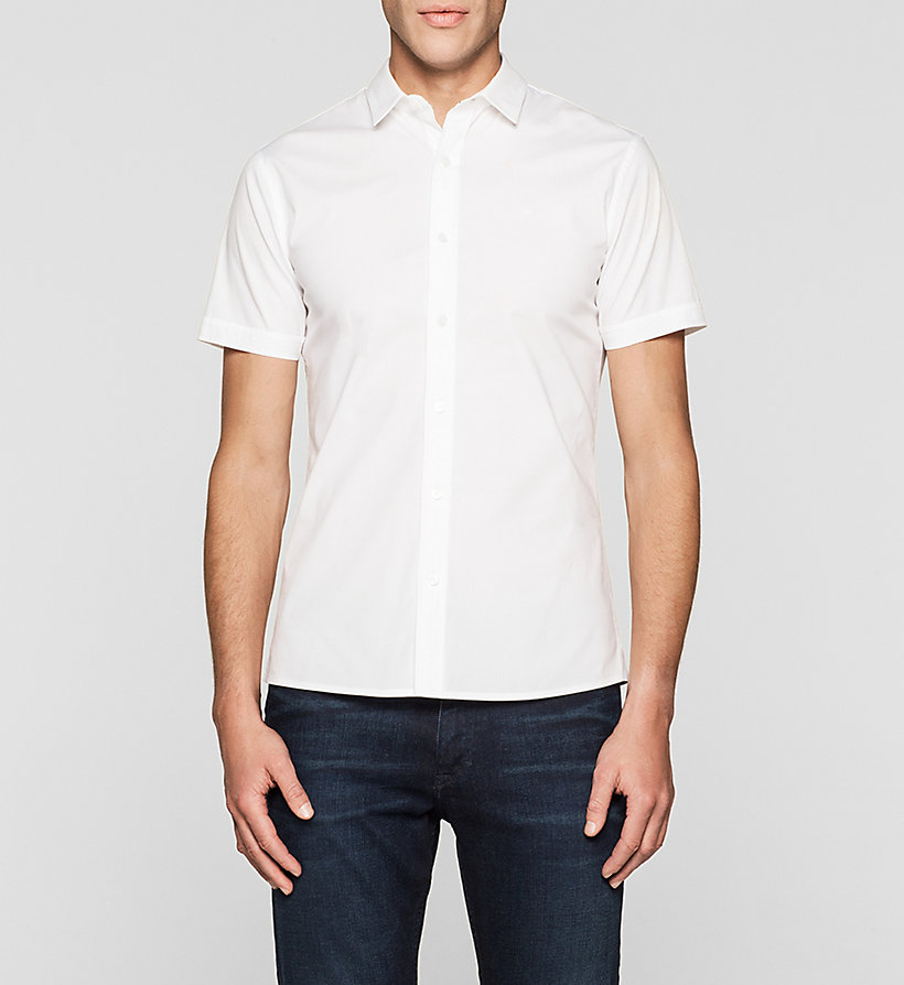 CKJEANS Fitted Shirt - BRIGHT WHITE - CK JEANS SHIRTS - main image