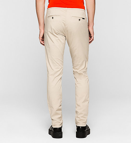 Regular Chino Trousers - PLAZA TAUPE - CK JEANS TROUSERS - detail image 1