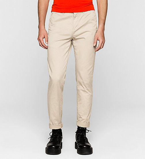 Regular Chino Trousers - PLAZA TAUPE - CK JEANS TROUSERS - main image