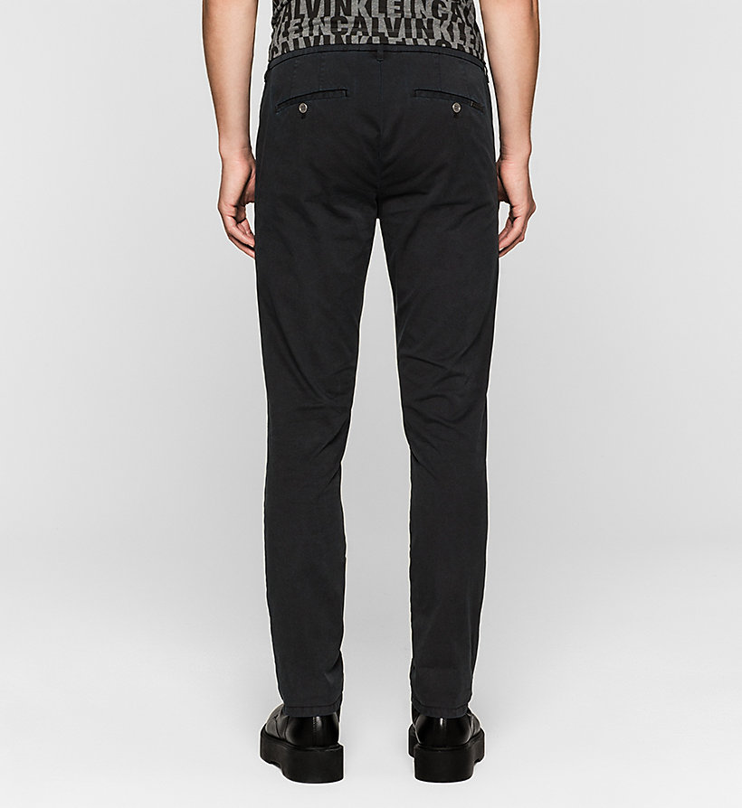 CKJEANS Regular Chino Trousers - CK BLACK - CK JEANS TROUSERS - detail image 1