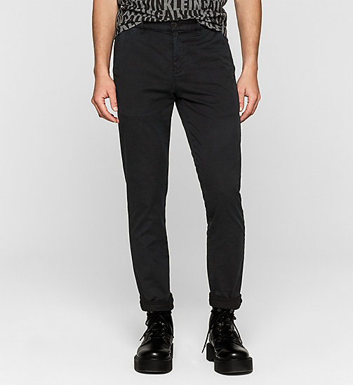 Regular Chino Trousers - CK BLACK - CK JEANS TROUSERS - main image