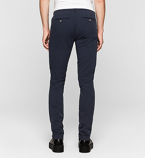 Regular Chino Trousers - NIGHT SKY - CK JEANS TROUSERS - detail image 1
