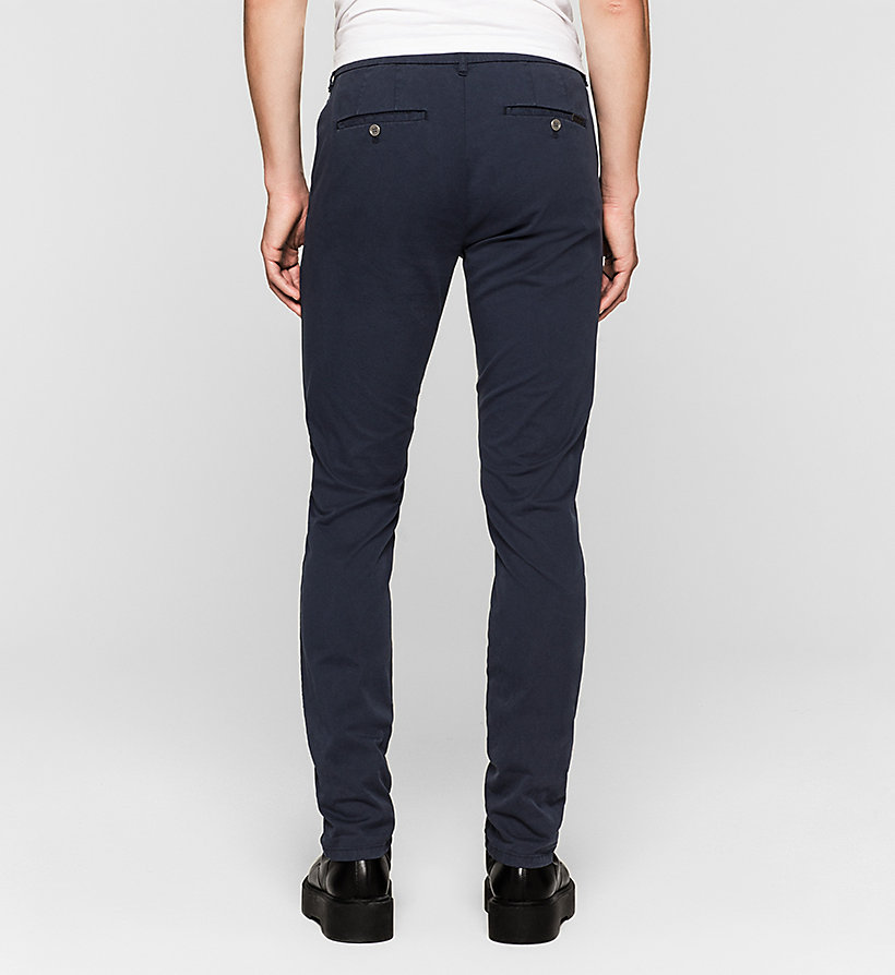 CKJEANS Regular Chino Trousers - NIGHT SKY - CK JEANS TROUSERS - detail image 1