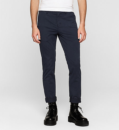 Regular Chino Trousers - NIGHT SKY - CK JEANS TROUSERS - main image