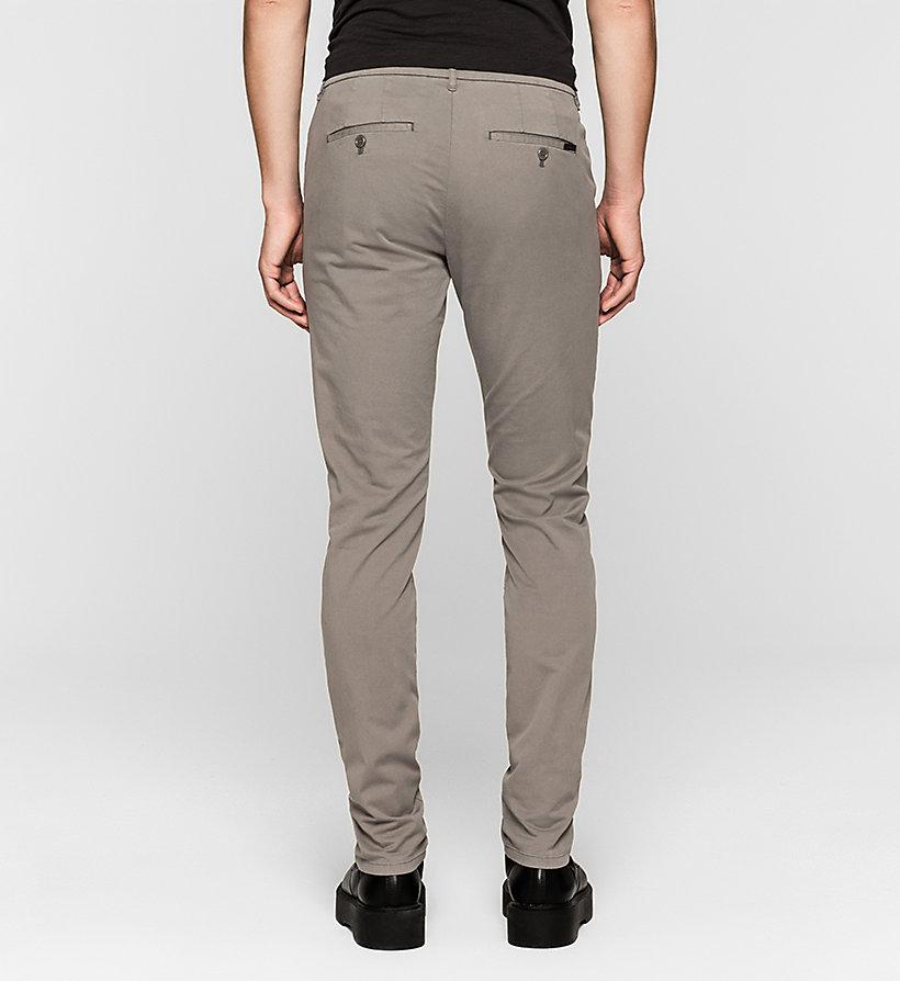 CKJEANS Regular Chino Trousers - BRUSHED NICKEL - CK JEANS TROUSERS - detail image 1