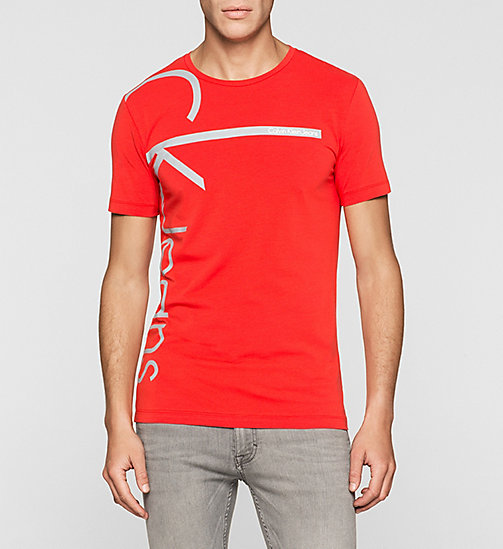Slim Logo T-shirt - FIERY RED - CK JEANS T-SHIRTS - main image