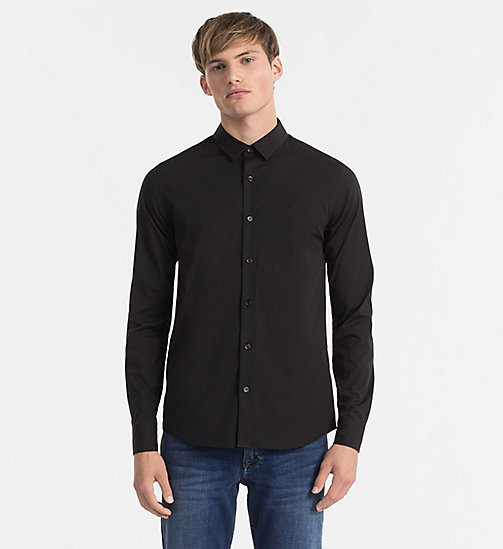 CALVIN KLEIN JEANS Slim Shirt - CK BLACK - CALVIN KLEIN JEANS GIFTS FOR HIM - main image