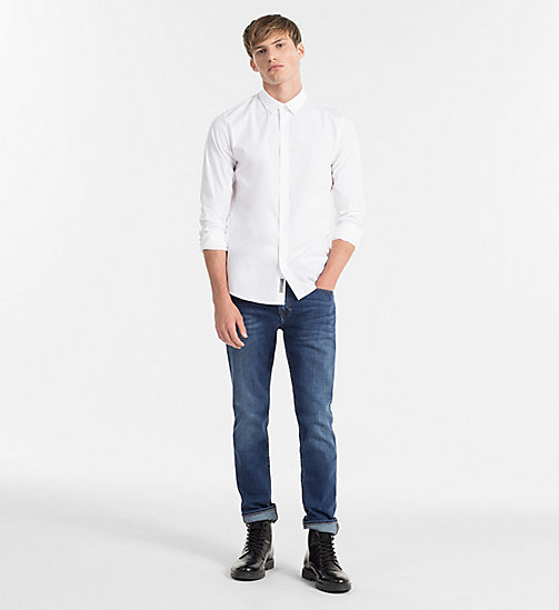 CALVIN KLEIN JEANS Slim Shirt - BRIGHT WHITE - CALVIN KLEIN JEANS GIFTS FOR HIM - detail image 1