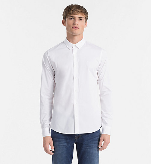 CKJEANS Slim Shirt - BRIGHT WHITE - CK JEANS GIFTS FOR HIM - main image
