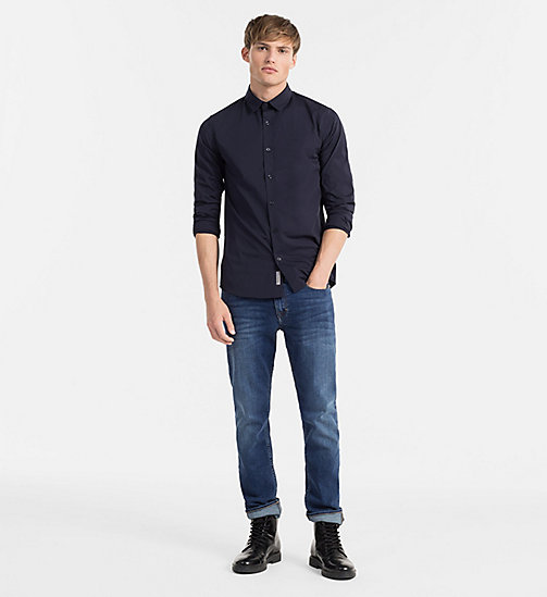 CALVIN KLEIN JEANS Slim Shirt - NIGHT SKY - CALVIN KLEIN JEANS GIFTS FOR HIM - detail image 1