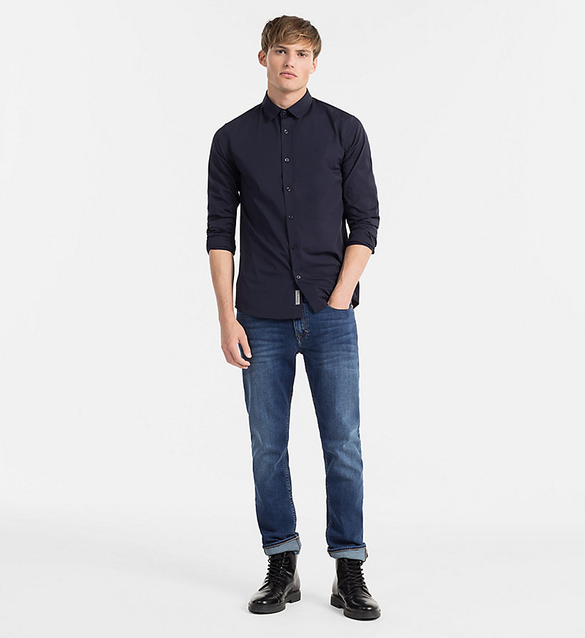 CALVIN KLEIN JEANS Slim Shirt - NIGHT SKY - CALVIN KLEIN JEANS CLOTHES - detail image 1