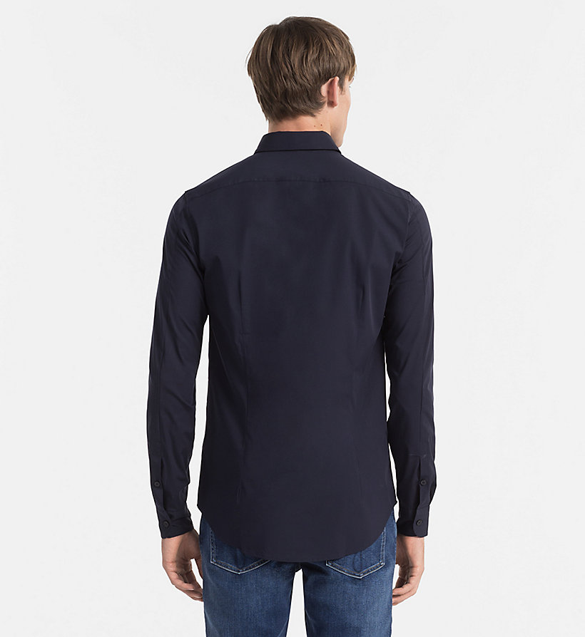 CALVIN KLEIN JEANS Slim Shirt - NIGHT SKY - CALVIN KLEIN JEANS CLOTHES - detail image 2