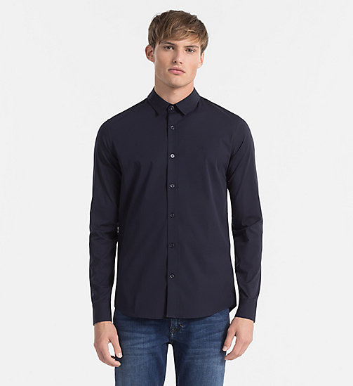 CALVIN KLEIN JEANS Slim Shirt - NIGHT SKY - CALVIN KLEIN JEANS GIFTS FOR HIM - main image