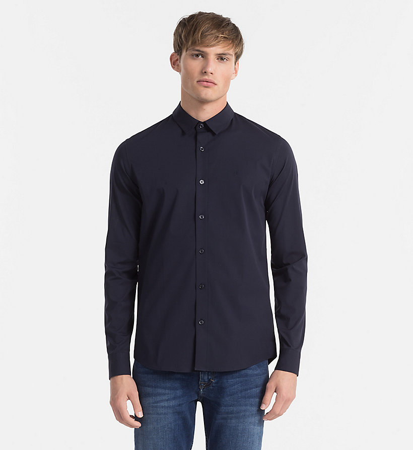 CALVIN KLEIN JEANS Slim Shirt - NIGHT SKY - CALVIN KLEIN JEANS CLOTHES - main image