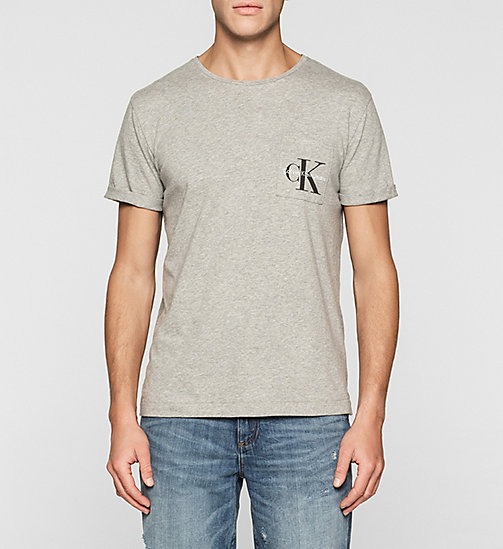 T-shirt regular avec logo - GREY HEATHER - CALVIN KLEIN JEANS T-SHIRTS - image principale