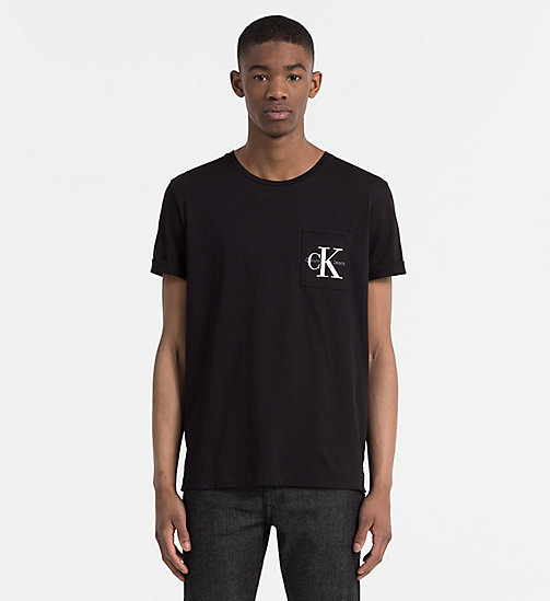 Regular Logo T-shirt - CK BLACK - CALVIN KLEIN JEANS CLOTHES - main image