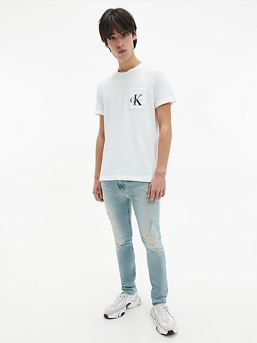 CALVIN KLEIN JEANS Regular Logo T-shirt - BRIGHT WHITE - CALVIN KLEIN JEANS CLOTHES - detail image 1