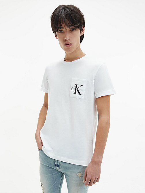 Regular Logo T-shirt - BRIGHT WHITE - CALVIN KLEIN JEANS  - main image