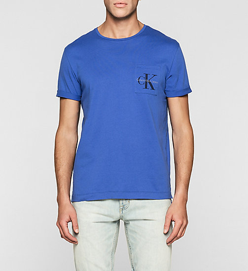Regular Logo T-shirt - DAZZLING BLUE - CALVIN KLEIN JEANS CLOTHES - main image
