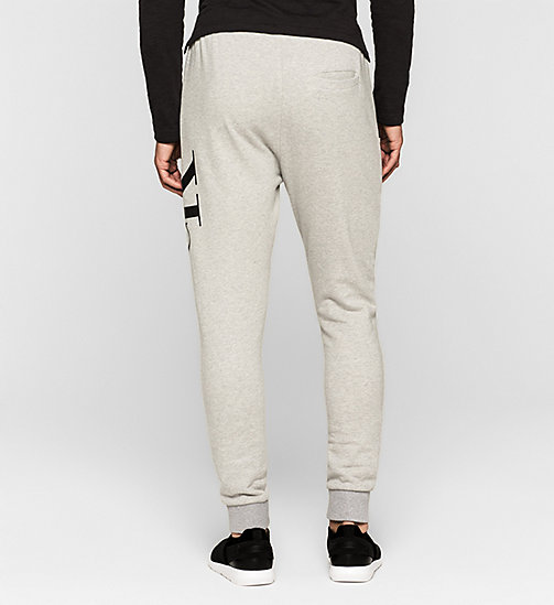 Joggingbroek met logo - LIGHT GREY HEATHER - CK JEANS  - detail image 1