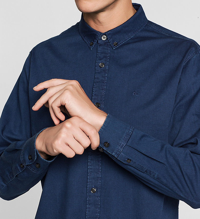 CKJEANS Slim Denim Shirt - DARK INDIGO - CK JEANS SHIRTS - detail image 2