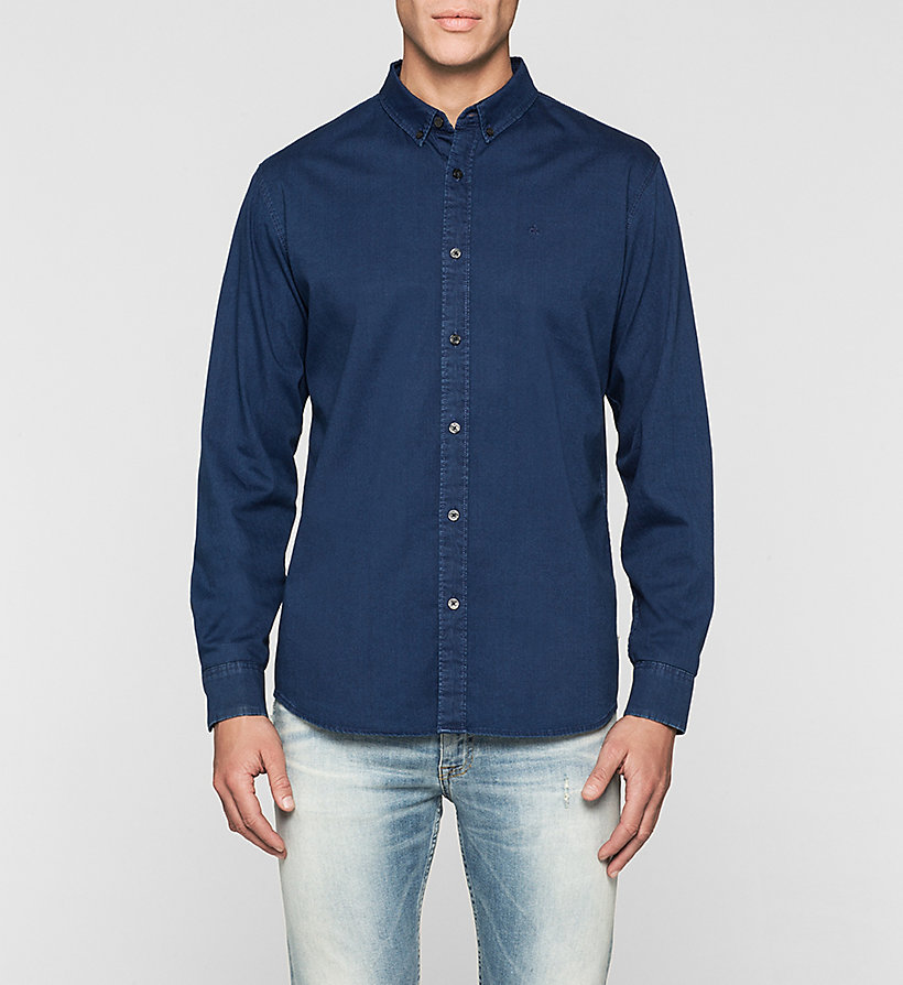 CKJEANS Slim Denim Shirt - DARK INDIGO - CK JEANS SHIRTS - main image