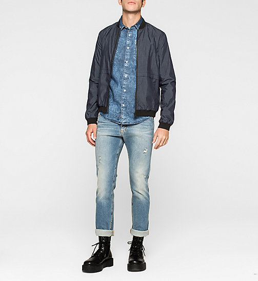 CKJEANS Slim Bleached Denim Shirt - MID BLEACH - CK JEANS DENIM REFRESH - detail image 1