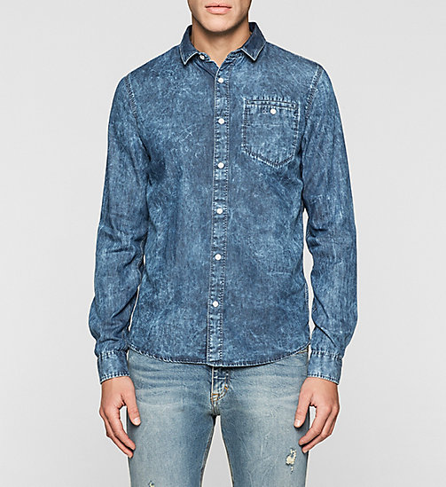 CKJEANS Slim Bleached Denim Shirt - MID BLEACH - CK JEANS DENIM REFRESH - main image