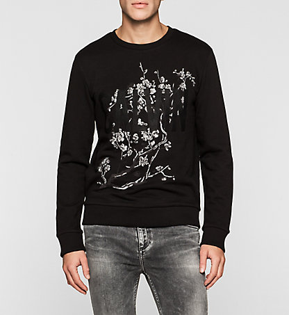 CALVIN KLEIN JEANS Embroidered Sweatshirt J30J304881099