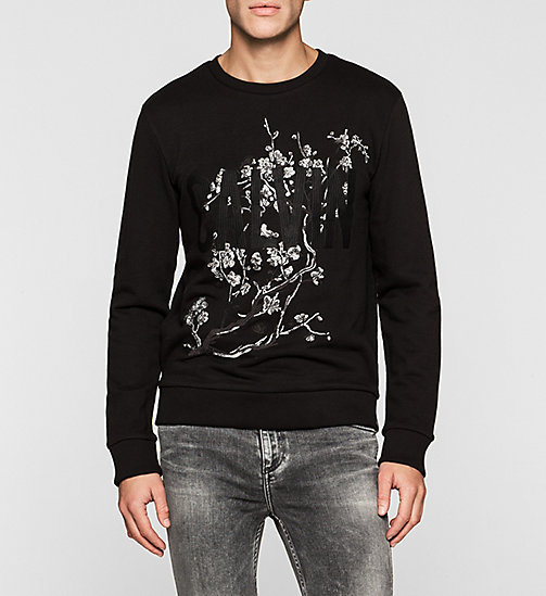 Sweat-shirt brodé - CK BLACK - CK JEANS SOUS-VÊTEMENTS - image principale
