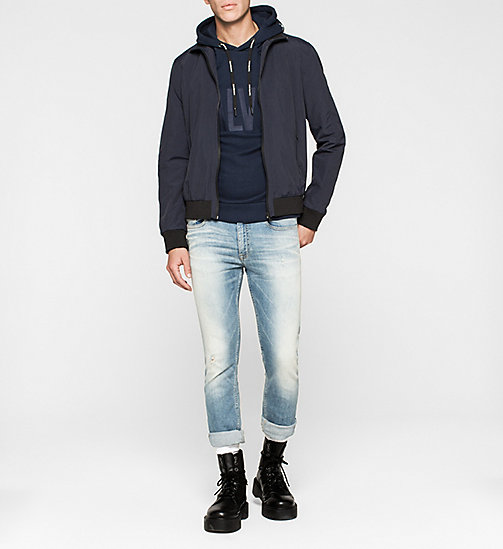 CKJEANS Logo Embroidered Hoodie - MID INDIGO - CK JEANS NEW ARRIVALS - detail image 1