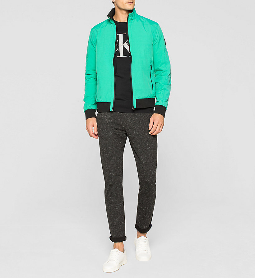 CKJEANS Nylon Bomber Jacket - GOLF GREEN WASHED - CK JEANS OUTERWEAR - detail image 1