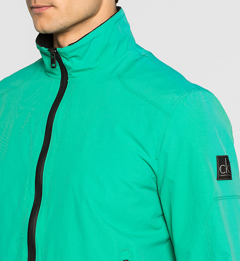 CKJEANS Nylon Bomber Jacket - GOLF GREEN WASHED - CK JEANS OUTERWEAR - detail image 2