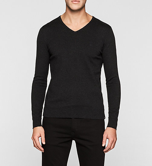 Cotton Stretch Sweater - CK BLACK - CK JEANS  - main image