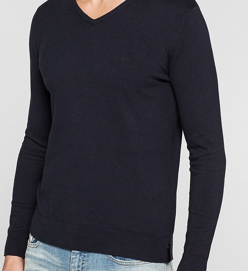 CKJEANS Cotton Stretch Sweater - NIGHT SKY - CK JEANS JUMPERS - detail image 2