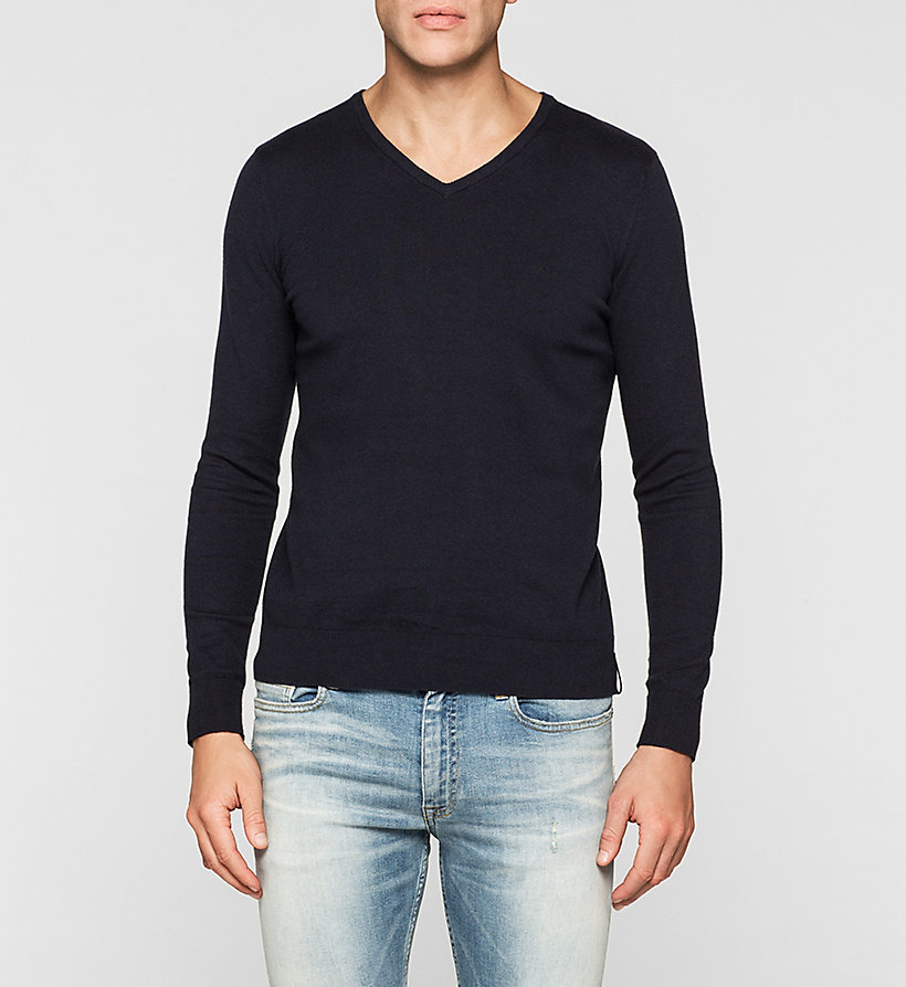 CKJEANS Cotton Stretch Sweater - NIGHT SKY - CK JEANS JUMPERS - main image