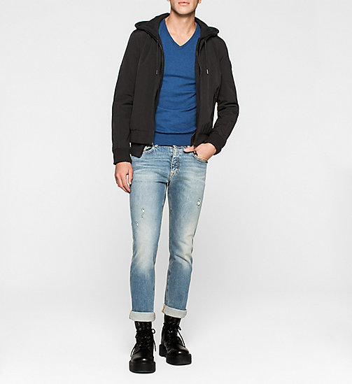 Cotton Stretch Pullover - MONACO BLUE - CK JEANS PULLOVER - main image 1